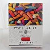 """Boîte de 30 demi-pastels tendres """"à l'écu"""" - coloris assortis"""