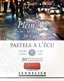 """Boîte de 30 demi-pastels tendres """"à l'écu"""" - sélection Plein Air Paysages Urbains"""