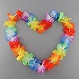 Bon Choix Lot de 10 Colliers De Fleurs Hawaïen Multicolore Accessoire Décoration Fête Beach Party Eté Plage Printemps ambiance tropique ...