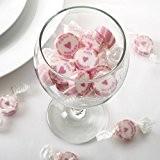 Bonbons Mariage 'Just Married' rose 50pièces-Les Cadeaux Mariage Bonbonnière Candy Bar Give aways-Rock Sweets Wedding Strawberry Flavour-Bonbons Mariage fraises goût
