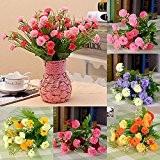 Bouquet de Fleur Oeillet Artificiel Décoration pour Fête Mariage - Rouge