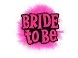 Broche badge future mariée avec plume et l'inscription 'Bride to Be' Rose flashy Rigolo et stylé Une bonne idée cadeau ...