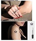 brovy (TM) 5mode de transfert de faux tatouage étanche autocollants tatouage temporaire Tatoo pour homme et femme
