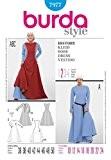 Burda 7977 Patron de couture Robes d'époque pour femme Tailles 38 à 52