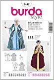 Burda B2447 Patron de Couture Robe Rococo 19 x 13 cm