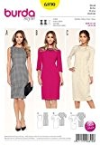 Burda femme Petite Tailles 6890 Patron de couture pour robes Drap-housse Simple