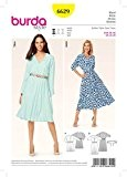 Burda Ladies Easy 6629 Patron de couture pour robe pour femme avec élastique à la taille