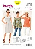 Burda Mesdames facile 6685 Patron de Couture Haut, tunique et robe + sans Minerva Crafts Craft Guide
