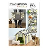Butterick B5867 Patron de rangement à jouets, maison pour chien et sac de transport Taille unique