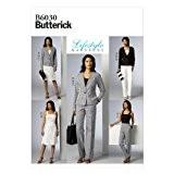 Butterick Patterns 6030A5 Patron de couture Veste, haut, jupe et pantalon pour femme