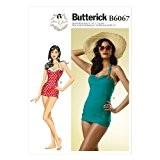 Butterick Patterns 6067E5 35, 5-40,6 Maillot de bain pour femme Tailles 46 à 50