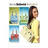 Butterick Patterns Patron de Couture Accessoires 6148-Sacs Cabas en 4Styles
