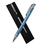 Cadeaux d'anniversaire personnalisé stylo à bille bleu clair avec Black Carton Wallet (encre bleue et encre noire supplémentaire)