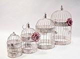 Cage à oiseaux Lot de 4cx10631rustique Table Décoration Mariage Maison Jardin