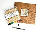 Cahier de coloriage pour adulte avec un set de 20 crayons de couleur gratuit, taille crayon en métal et porte ...