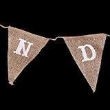 CANDY BAR Guirlande Bannière Banderole en Jute Vintage Décoration Champêtre