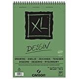 CANSON Bloc de 50 feuilles Croquis et Dessin XL Spirale A4 160g Blanc