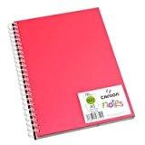 CANSON - Bloc notes, couleur: rose, 148 x 210 mm, format A5 120 g/m2, 50 feuilles, avec spirale, uni (4127720)