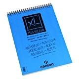 """CANSON - bloc pour croquis """"XL MIX MEDIA"""", format A3, 30 feuilles, 300 g/m2, spirale sur le petit côté, couverture ..."""