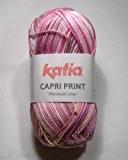Capri Print Fil en coton de Katia dans rose (53)