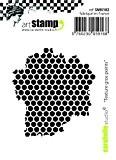 Carabelle Studio SMI0182 Tampon Mini Motif Texture Big Points Caoutchouc Blanc/Transparent 5 x 6 x 0,5 cm