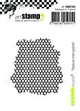 Carabelle Studio SMI0183 Tampon Mini Motif Texture Small Points Caoutchouc Blanc/Transparent 5 x 6 x 0,5 cm