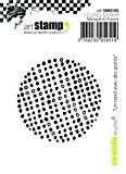 Carabelle Studio SMI0195 Tampon Mini Motif Round with Points Caoutchouc Blanc/Transparent 5 x 6 x 0,5 cm