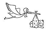Cart-us tampon bois cigogne - 8 x 5.2 cm de knorr prandell