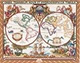 """Carte de Olde World Platinum Collection compté point de croix Kit-18 """"X 15"""" 14 barres"""