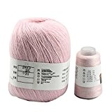 Celine Lin pur Cachemire Super Doux Fil à tricoter 70g pour les main et machine à tricoter rose