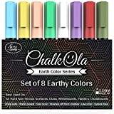 Chalkola - Lot de 8 feutres marqueurs de couleur à pointe ogive de 6 mm - À utiliser sur tableau ...