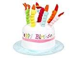 Chapeau musical qui diffuse la mélodie de 'happy birthday to you' très doux en forme de Gâteau avec bougies couleur ...