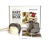 Chaussons-Kit à Tricoter pour bébé avec Pure pour bébé en laine mérinos et apprendre à tricoter Instructions
