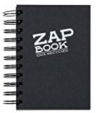 Clairefontaine Zap Book à spirales croquis, Noir, format A5, 80g