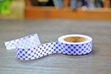 Coeurs Washi Masking Tapes Beaucoup de motifs et couleurs (Bleu Damier coeurs)