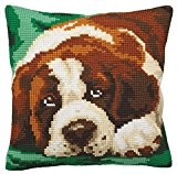 Collection D'Art 5165 Bernie Kit de Coussin Gros Trous Coton Multicolore 50 x 45 x 0,1 cm