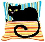 Collection D'Art 5187 Madame Cool Kit de Coussin Gros Trous Coton Multicolore 40 x 40 cm