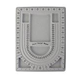 Collier Perles Bracelet Bricolage Outil de Mesure Cadran Plaque Conception de Disque Bijoux - Gris Fabrication de Bijoux