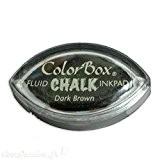 Color Box - Encreur tampon Chalk oeil de chat dark brown - 2 x 3.5 cm