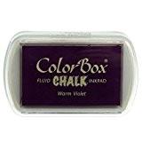 Color Box - Encreur tampon Chalk warm violet - 4.5 x 7 cm