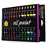 Colore - Ensemble de Peinture à l'huile de haute qualité - Parfait pour l'utilisation sur les Peintures de Paysage et ...