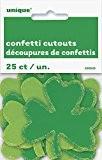 Confettis papier découpé Trèfle St Patrick de Jour, décorations, Lot de 25