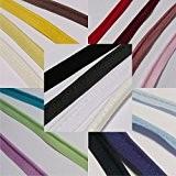 Cordon de passepoil Insert à embase 2mm coupe en biais coton–vendu au mètre–de nombreuses couleurs, Polyester Coton, lilas, 2 mm