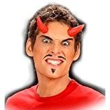 Cornes de diable rouges cornes Satan à coller devil cornes de diable cornes en latex démon accessoires déguisement diable masque ...