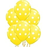 Coscelia Lot de 10 Ballons Latex 10p ouces Ballons Décoration pour Anniversaire Mariage Soirée Partie (Jaune)