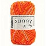 Coton à tricoter SUNNY MULTICO 402 Orange multi