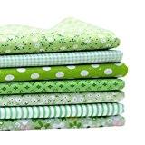 Coton Generic Tissu Pack Series 7 Assorted Per-Cut Fat Quarters Bundle Patchwork Flower Design 50x50cm vert