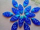 Couleur Bleu Foncé AB résine strass cristal à coudre navette forme 11cabochons * * * * * * * * ...