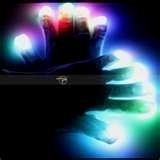 Couleur changer LED clignotant gants pour Clubs, Raves, Festivals, Halloween, etc. de Bonfire Night. One size fits all, piles comprises.