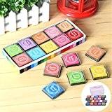 Coussins Encreurs Tampons Encreurs ToullGo® Un ensemble de 20 école Enseignant Alphabet Tampons Enfants Multicolore Inkpad Tampons à imprimer Inkpad ...